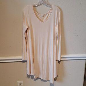 Long sleeve asymmetrical V neck dress size medium